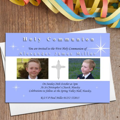 10 Personalised 1st First Holy Communion PHOTO Invitations N18